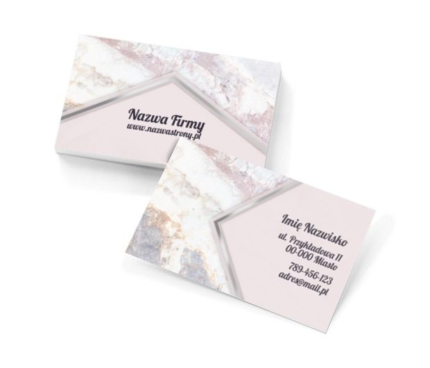 Marmurowy klasyk, Motywy, Glamour - Wizytówki Netprint szablony online