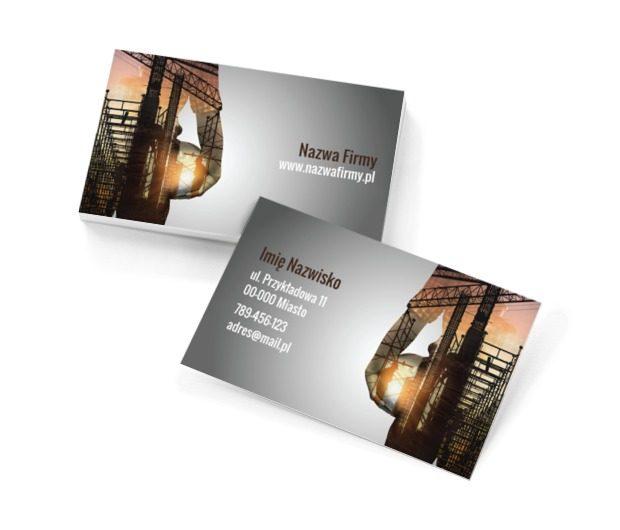 Nowoczesne budownictwo, Budownictwo, Architektura - Wizytówki Netprint szablony online