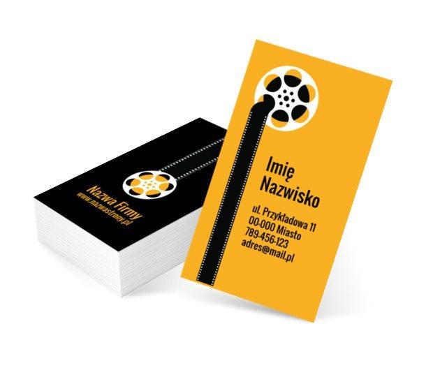 Filmowa klisza, Fotografia, Wideofilmowanie - Wizytówki Netprint szablony online