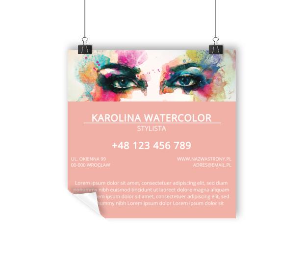 Czarujemy pięknymi oczami, Zdrowie i uroda, Stylista - Plakaty Wielkoformatowe Netprint szablony online