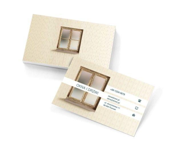 Okno na podwórze, Budownictwo, Okna i Drzwi - Wizytówki Netprint szablony online