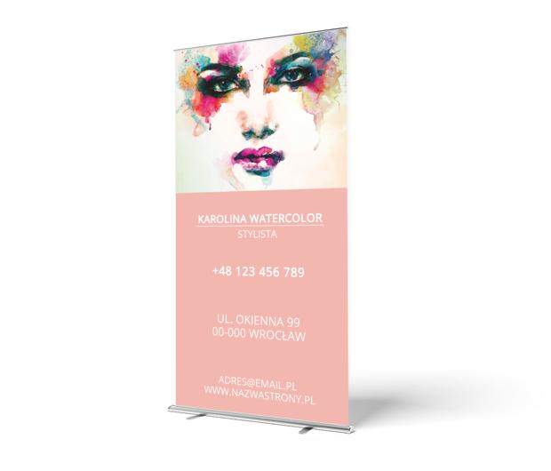 Cała paleta barw w twoich usługach, Zdrowie i uroda, Stylista - Roll-up Netprint szablony online