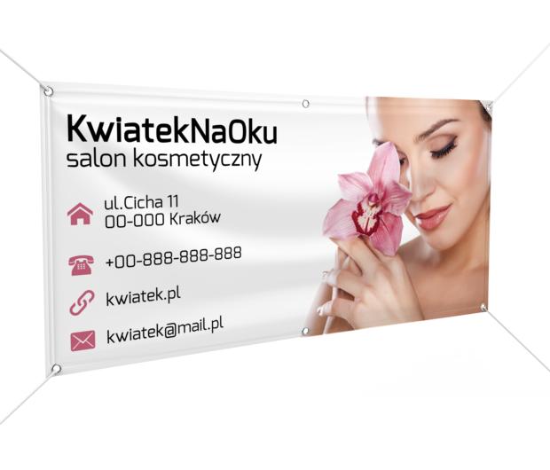 Reklama o maksymalnej mocy zachęca, Zdrowie i uroda, Salon kosmetyczny - Banery Netprint szablony online