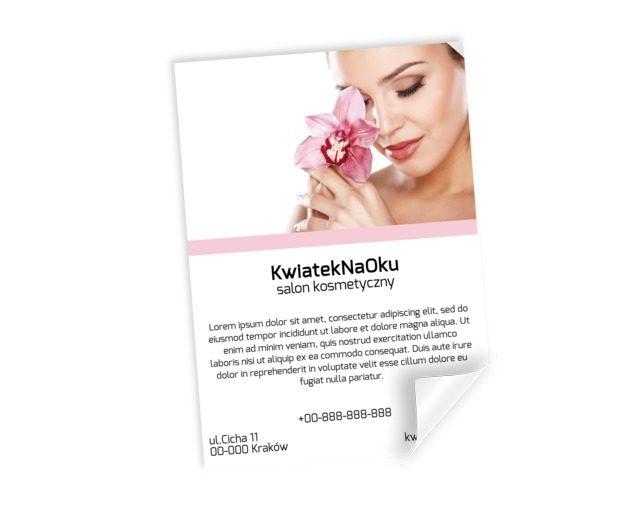 Informacja w pięknej oprawie, Zdrowie i uroda, Salon kosmetyczny - Plakaty Netprint szablony online