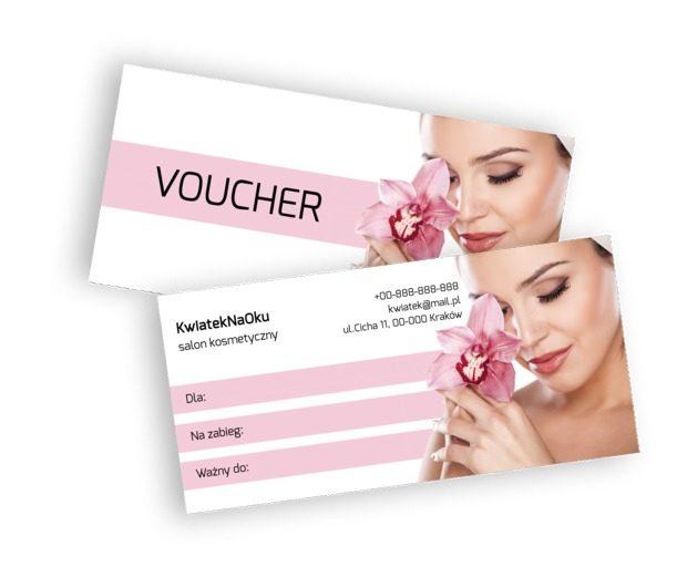 Zapowiedź pięknego wyglądu, Zdrowie i uroda, Salon kosmetyczny - Vouchery Netprint szablony online