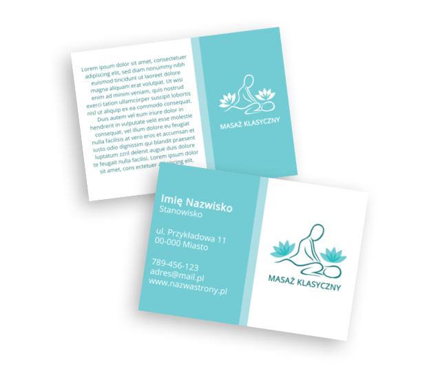 Pastelowy pomysł na elegancką ulotkę, Medycyna, Masażysta - Ulotki Netprint szablony online