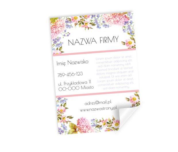 Treść w otoczeniu kwiatów, Motywy, Roślinne - Plakaty Netprint szablony online