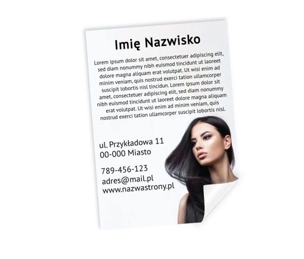 Zachęcamy i informujemy, Zdrowie i uroda, Salon fryzjerski - Plakaty Netprint szablony online