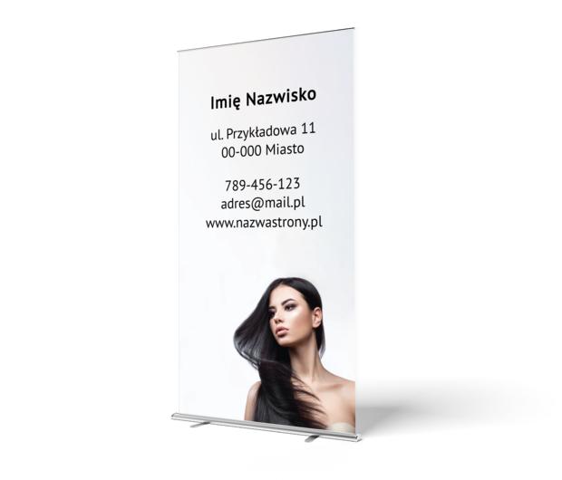 Grafika godna pokazania na targach, Zdrowie i uroda, Salon fryzjerski - Roll-up Netprint szablony online