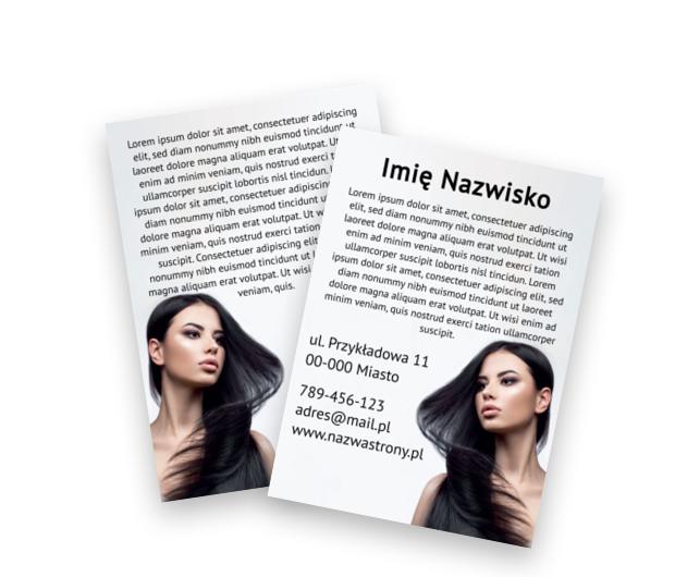 Zapowiedź pięknego wyglądu, Zdrowie i Uroda, Salon Fryzjerski - Ulotki Netprint szablony online