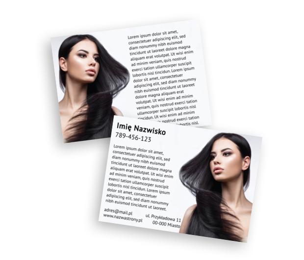 Równowaga grafiki i informacji, Zdrowie i Uroda, Salon Fryzjerski - Ulotki Netprint szablony online