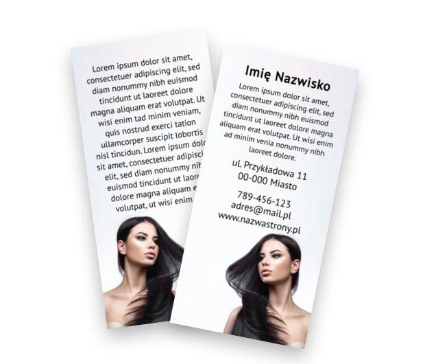 Zadbaj od estetykę I informację, Zdrowie i Uroda, Salon Fryzjerski - Ulotki Netprint szablony online