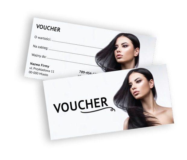 Voucher dla dbających o urodę, Zdrowie i uroda, Salon fryzjerski - Vouchery Netprint szablony online