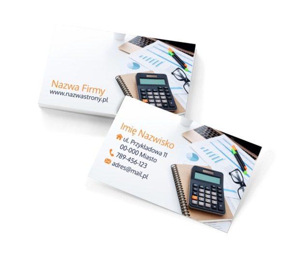 O finansach wiemy wszystko!, Usługi biurowe, Księgowość - Wizytówki Netprint szablony online