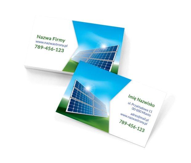 Alternatywne źródła energii, Środowisko i Przyroda, Ochrona Środowiska - Wizytówki Netprint szablony online