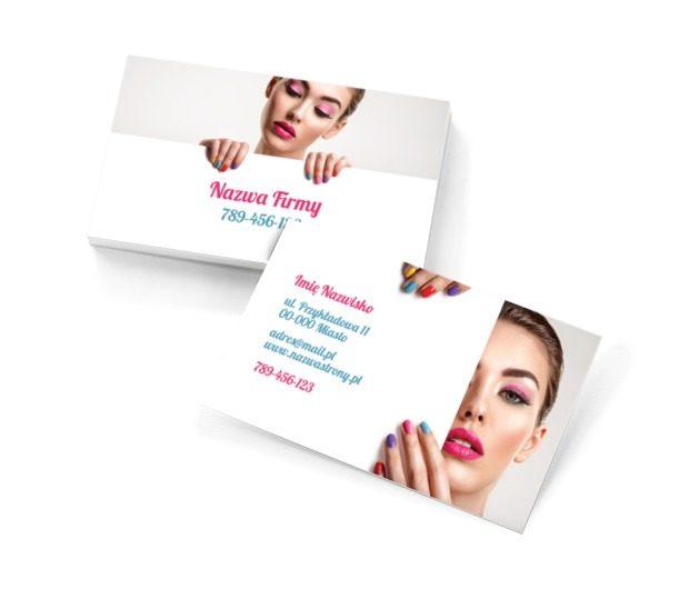 Kolorami kusimy klientów, Zdrowie i uroda, Salon kosmetyczny - Wizytówki Netprint szablony online