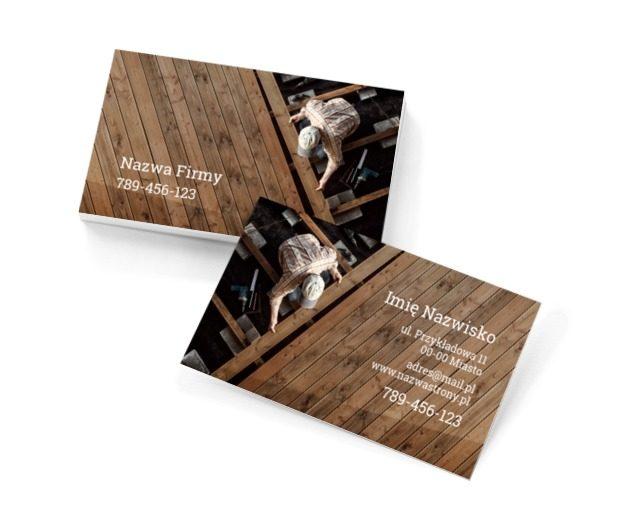 Drewniany świat dobrego fachowca, Budownictwo, Remont i Wykończenia - Wizytówki Netprint szablony online