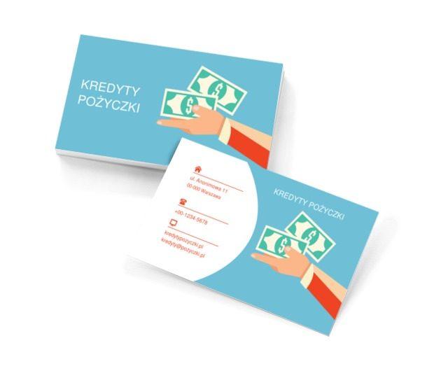 Ręka z pieniędzmi, Finanse i ubezpieczenia, Kredyty / Pożyczki - Wizytówki Netprint szablony online