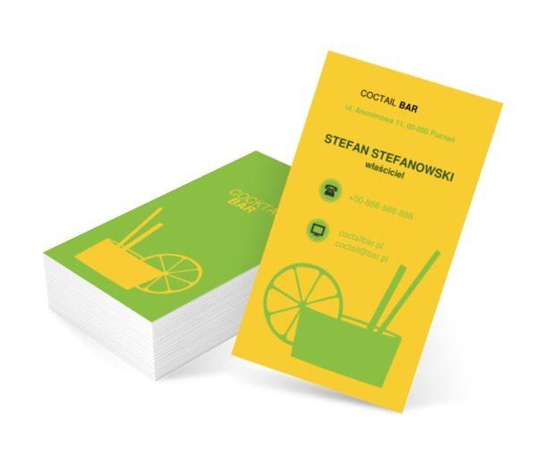 Drink z cytryną, Gastronomia, Bar - Wizytówki Netprint szablony online