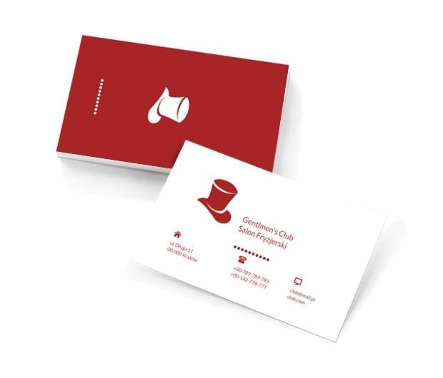 Czerwony kapelusz, Zdrowie i uroda, Salon fryzjerski - Wizytówki Netprint szablony online