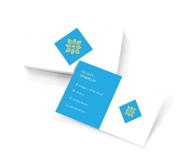 Biało-niebieski projekt, Zdrowie i uroda, SPA - Wizytówki Netprint szablony online