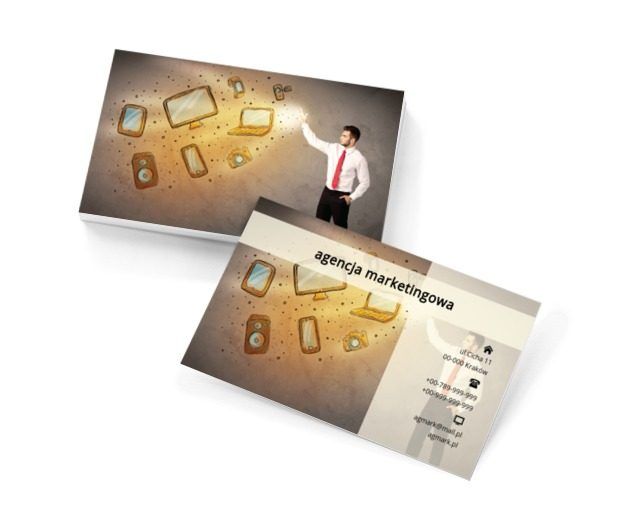 Czarodziej tabletów, Usługi biurowe, Agencja marketingowa - Wizytówki Netprint szablony online